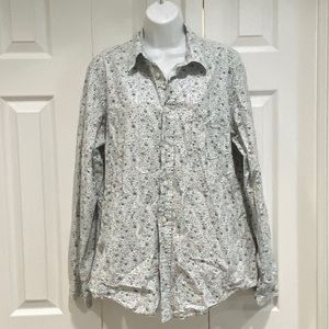 Lucky Brand Floral Button Down Top M